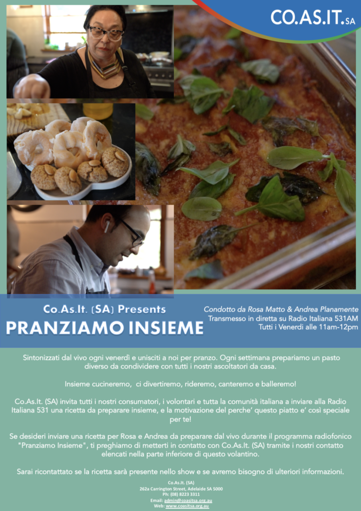 Flyer for cooking show (Italian)